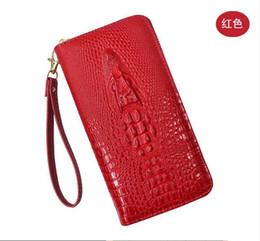 Nouveau portefeuille européen de crocodiles pour dames avec fermeture à glissière portefeuille de grande capacité multifonctions B1 ? partir de fabricateur