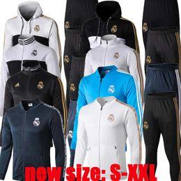 2019 черный цвет 2019 2020 Реал Мадрид футбол спортивный костюм куртка 19 20 camiseta de futbol Кроос Иско Бэйл Модрич опасность футбольная куртка Survetement chandal