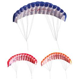 strumento cervo volante Sconti Outdoor Fun Dual Line Parafoil Kite con strumenti volanti Power Braid Sailing Kitesurf Rainbow Sports Beach Kite Giocando a Flying Toys