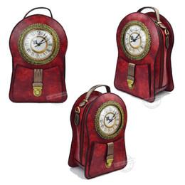 relógio, bolsas Desconto Diversão Forma De Relógio Sacos De Couro Das Mulheres Vinho Preto Café Crossbody Sacos Senhoras Ombro Luxo Maiores Bolsas Totes