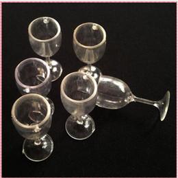 2019 boules de laiton creuses 20 PCS / LOT en plastique artisanat mini faux verre à vin gobelet tasse décoration de la maison miniature en verre modèle en plastique pièces de bricolage # DIY061