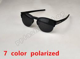 Barato polarizado on-line-Barato Marca Óculos De Sol Para Homens E Mulheres Shades Óculos de Sol Esportes Metade Quadro Polarizada Óculos De Sol Óculos de Sol 7 Cores