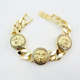 Metall Kopf Legierung Quadrat Armband 3D Druck Legierung Armband Gold Schmuck Termin Party Sport Zubehör Geburtstagsgeschenke von Fabrikanten