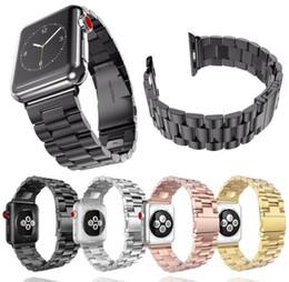 goldkette armbanduhren Rabatt NEUE 44 / 42mm 40 / 38mm Edelstahl Uhrenarmbänder Metallkette Handgelenkgurte Smart Watchband für Apple iWatch Serie 1/2/3/4 Ersatz