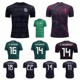 uniforme de mexico verde Rebajas 2019 2020 México Fútbol Jersey Hombres 22 LOZANO 10 SANTOS 14 CHICHARITO 19 PERALTA 18 GUARDADO Fútbol Uniformes Kits Uniforme Inicio Negro Verde