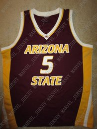 0eec0db49d6 Cheap custom Arizona State Sun Devils #5 ASU Basketball Jersey Stitched  Customize any number name MEN WOMEN YOUTH XS-5XL basketball custom jerseys  cheap for ...