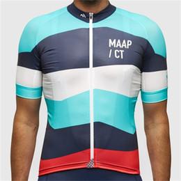 Un ciclo jersey blanco y negro online-Maap jerseys de ciclismo ajustados cómodos chaqueta deportiva poliéster malla hombre mujer negro blanco desgaste atlético venta caliente 43ryD1