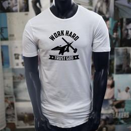 Deutschland Vertrauen Gott Arbeit Hard Metal Works Schmied Hammer Männer Weiß Erweiterte Lange T-shirt T-shirt männer Sommer Benutzerdefinierte Kurzarm valentines Big Si Versorgung