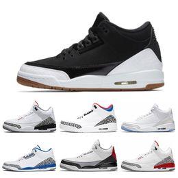 timeless design 44ccf 34789 Nike air jordan 3 3s pas cher 3 3s chaussures de basket-ball International  Flight Black Cement Feu Rouge Ligne De Lancer Gratuit Gracieux Baskets De  Sport ...