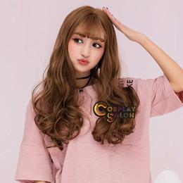 peluca lolita resistente al calor Rebajas 65 CM Japón Lolita negro / marrón / gris Thin Bang Curly Resistente al calor Cosplay Wig Envío gratis Nueva peluca de imagen de moda de alta calidad
