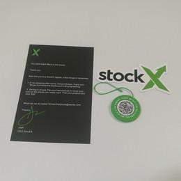 Nastro di plastica verde online-Nuovo StockX Verified X Tag autentico QR Code OG Green Tag circolare Stock X Plastic Buckle Off Shoes Shoes Lace Ribbon