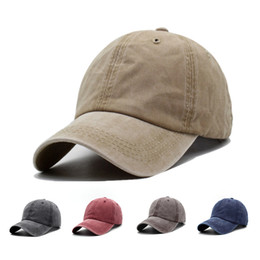 Canvas Men Women Plain Curved Sun Visor Baseball Cap Hat Solid Color  Fashion Adjustable Retro Caps 4d20c7ad64d6