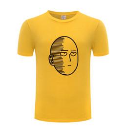 Um homem soco on-line-Um Soco Um Oppai T Shirts Homens Anime Dos Desenhos Animados Manga Curta O Pescoço de Algodão Homem T-Shirt Legal Engraçado Streetwear Top Tee Tamanho Grande
