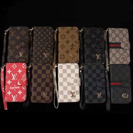 Bolsas para iphone on-line-Retro flip phone case para iphone x xs max 8 7 6 plus wallet bolsa casos para galaxy s10 s9 s9 s8 s7 nota 9 ...