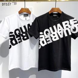 2019 плюс размер одежды 2020 SS New Arrival Top Quality D2 Clothing Мужские футболки с принтом тройники с коротким рукавом M-3XL DT537