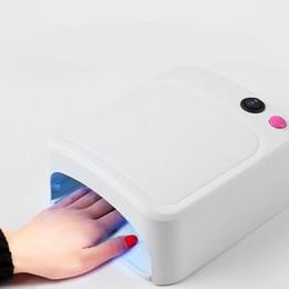 лампа для сушки ногтей Скидка 36W УФ ногтей сушилки лампа Led Nail Art маникюр машина мини лак для ногтей лампа сушилка набор инструментов ЕС США Plug розовый белый