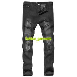 Mens gefaltete hose online-Marke neue mens plissee füße mens persönlichkeit gerade dünne jeans designer mens gerade jeans casual hosen hohe qualität hosen