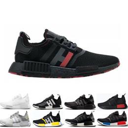 Обувь доставка по японии онлайн-Оптовая NMD R1 кроссовки OG Япония тройной черный белый солнечный Красный Oreo Мужчины Женщины дизайнер тренер Спорт кроссовки размер 5-11 Бесплатная доставка