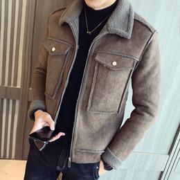 Куртка qiu dong онлайн-Мужское кожаное пальто, Qiu Dong Мужская выращивать свою мораль кожаную куртку с лацканами