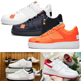 meet 60376 5f15d Air force 1 AF1 Nike airmax one 2019 Une chaussure de basketball pour  hommes femmes juste dunk utility blanc noir orange blé High Low Hommes  formateurs ...