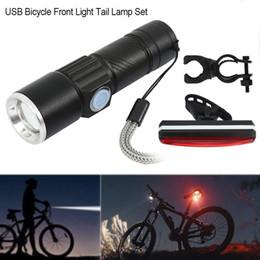 mountainbike-kopf-rückleuchten Rabatt USB wiederaufladbare LED MTB Fahrrad Fahrrad Fahrrad Scheinwerfer Rücklicht Rücklicht USB Fahrrad Rücklicht Rücklicht Set