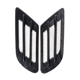 2019 fluxo de plástico Saim Car Fluxo de Ar Adesivo Lado Aditivo Ventilador Fender Intake Decor Preto 2 Pcs fluxo de plástico barato