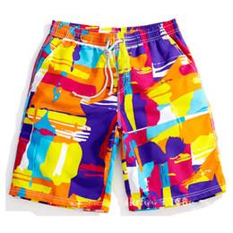 Canada Graffiti Cordon À La Taille Élastique Casual Été Shorts Hommes Couple Beach Board Bermudes Hommes Shorts Boardshorts Mâle Culottes Offre
