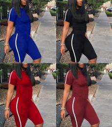 Ropa deportiva para mujer trajes de manga corta conjunto de dos piezas de moda impreso chándal jogging traje deportivo sudadera medias traje deportivo klw0942 desde fabricantes