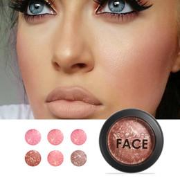 62f3ba968 FOCALLURE Maquillaje al horno Blush 6 colores bronceador de mejilla  profesional Blushe alta calidad maquillaje belleza nueva moda cosmética  maquillaje al ...
