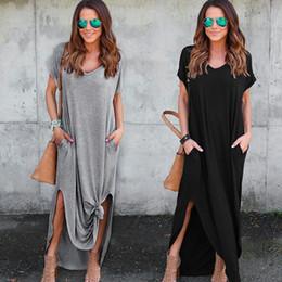 a68b83317362 comodi abiti estivi donne Sconti Nice New Fashion Comodo Womens Loose  Summer Beach Gallus Maniche corte