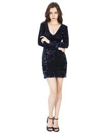 Узкое платье с глубоким V-образным вырезом и блестками Сексуальное платье с глубоким V-образным вырезом облегающее сексуальное платье supplier deep hip от Поставщики глубокий бедро