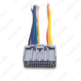 Arnês para rádio de carro on-line-Rádio de áudio estéreo do carro CD / Player Plug do chicote de fios do adaptador para Jeep Wrangler / Compass Tail Wire #: 4050