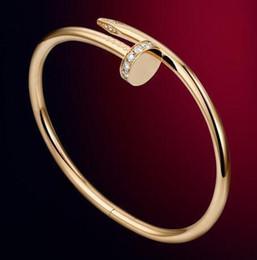 925 bracelets diamants en Ligne-Vente chaude Top De Luxe Bracelet Or 925 Argent Couleur Réglable Ouvert En Cristal Fil Bracelets Pour Homme Femmes Bande Diamant Bracelet Bracelets