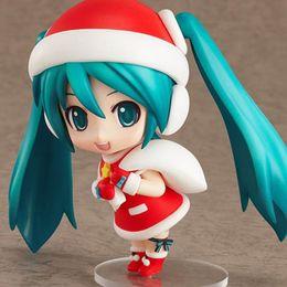 anime vocaloid hatsune miku muñeca Rebajas 10cm Nendoroid Hatsune Miku 280 Santa Claus Ver. Q versión Miku Christmas Collection La figura de acción Juegos de construcción