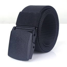 Argentina 125-140 Cinturón de tamaño largo POM Botón de secado rápido, liso, para hombres Cinturón de imitación personalizado Nylon Cinturón para exteriores sin metal Suministro