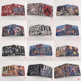 juegos de tarjetas de regalo Rebajas Apex legend billetera estudiante monedero corto con titular de la tarjeta Coin Pocket Game Purse Cartoon Gift Bag 25 estilo MMA1534