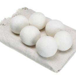 Secador de lana Bolas Suavizante natural reutilizable de primera calidad Estático de 2.76 pulgadas Reduce las ayudas Secar la bola Práctica Limpiar la bola en la lavandería más rápido desde fabricantes