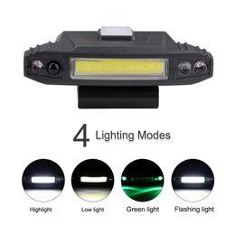 Usb-накопители онлайн-4 режима USB аккумуляторная крышка клип свет индукции COB фары шляпа клип свет лампы крышка встроенный аккумулятор освещение