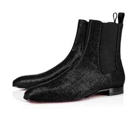 Zapatos del medio online-Botas de boda para caballero Pantalones de hombre de diseño con parte inferior roja Roadie Orlato Flat Shoes Flat Casual, botín super perfecto para hombre Leopard