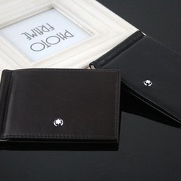 2019 portefeuilles neufs Portefeuille pour cartes de crédit Mens Wallet Leather véritable portefeuilles de haute qualité avec porte-carte pince à billets New Men Purse marque Simple promotion portefeuilles neufs