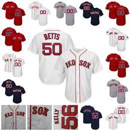 Maglia Boston Mookie Bett Red Sox Nathan Eovaldi Andrew Benintendi Xander Bogaerts Devers Moreland Chavis Barnes Walden J.D.Martinez Ortiz cheap red boston jersey da rosso jersey di boston fornitori