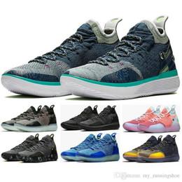 Canada KD11 EP Hommes Chaussures de Basketball Kevin DurantKD 11 BHM Zodiac Chinois Haute Qualité Mousse Sneaker Magasin Avec Boîte Hommes Baskets Baskets Taille7-12 Offre