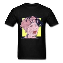 Lil Peep Harajuku lustiges schwarzes T-Shirt S-3xl Kurzarm plus Größen-Diskont-heißes neues Spitzenfreies Verschiffen-T-Shirt von Fabrikanten