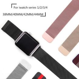 Argentina Banda milanesa para iwatch 4 Correa de acero inoxidable para la serie de relojes Apple 1/2/3/4 38mm 42mm 40mm 44mm Suministro