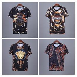 Euro markenkleidung online-HOT 2019 Sommer Neue Herren Tees Rundkragen T-Shirt Kurzarm Baumwolle mode Euro größe t shirt menwomen marke kleidung runde t-shirt