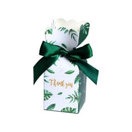Candy caixas aniversário favores on-line-Caixas de Bombons verdes Favores Do Chuveiro de Bebê Caixa de Papel de Presente de Casamento Saco de Presente de Aniversário da Festa de Natal Suprimentos Decoração Do Casamento