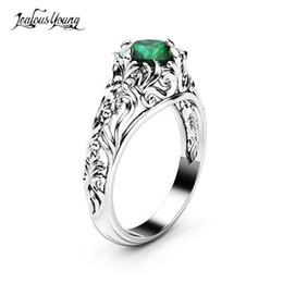 Schmuck & Zubehör Helle Mehrfarbige Zirkon Luxus Engagement Ring Mit Weiß Silber Farbe Platz Kristall Ringe Für Frauen Schmuck Geschenk Mujer