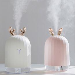 Lámparas de niebla led online-220ML Ultrasónico Humidificador de aire Aroma Difusor de aceite esencial para el hogar Coche USB Fogger Mist Maker con lámpara de noche LED