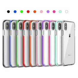 Casos celulares silicone on-line-Para iphone xs max xr x 8 7 6 plus silicone bumper phone case capa capa mole à prova de choque gel colorido colorido case capa slim
