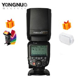 camara flash yongnuo Desconto Original YONGNUO YN600EX-RT II 2.4G Sem Fio HSS 1/8000 s Mestre TTL Flash Speedlite para Câmera como 600EX-RT YN600EX RT II